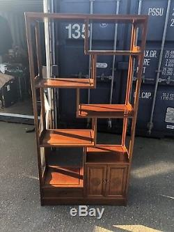 Vintage, Chinese Hardwood Home or Shop Open Display / Shelving / Storage Unit