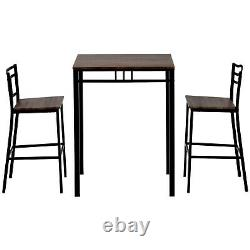 Vintage Dining Table Breakfast Bar Table and Stools Chairs Kitchen Furniture Set