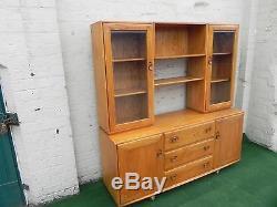Vintage Ercol Cabinet/Dresser/Bookcase in Light Elm