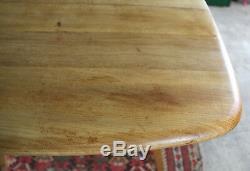 Vintage Ercol Drop Leaf Plank Table, Light Elm, Retro, Kitchen, Dining, Windsor