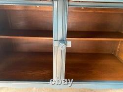 Vintage Ercol Elm Welsh Dresser, Sideboard, Plate Rack Petrol Blue