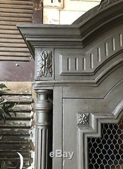 Vintage French Handpainted Armoire