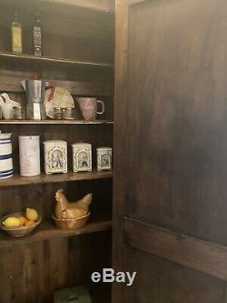 Vintage French Painted Pine Larder Cupboard/ Kitchen