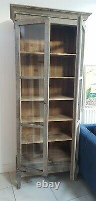 Vintage French Style Tall Glass Display Dining Kitchen Cabinet RRP £1745 NEW