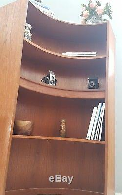 Vintage G Plan Mid Century Teak Corner Bookcase Display Drinks Cabinet Shelves