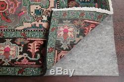 Vintage Geometric Heriz Area Rug Hand-Knotted One-of-a-Kind Wool Carpet 7'x10