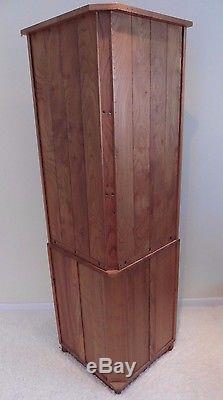 Vintage Golden Dawn Ercol Corner Cupboard Storage Unit Elm Cabinet Retro 70s 80s