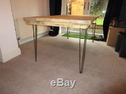 Vintage, Hairpin Leg, Industrial, Rustic Reclaimed Dining/Kitchen Table, tables