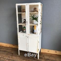 Vintage Hospital Medical Cabinet Metal Industrial Kitchen Shelves Bathroom A
