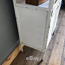 Vintage Hospital Medical Drinks Cabinet Metal Industrial Kitchen Bathroom C