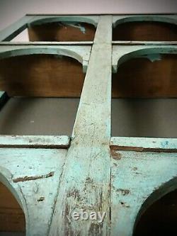 Vintage Indian Arched Display Unit. Nine Classic Arch. Baby Blue & Eau De Nil