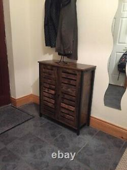 Vintage Industrial Cupboard Cabinet Slim Sideboard Storage Unit Side Table Hall