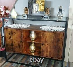 Vintage Industrial Cupboard Hallway Slim Console Table Cabinet Unit Sideboard
