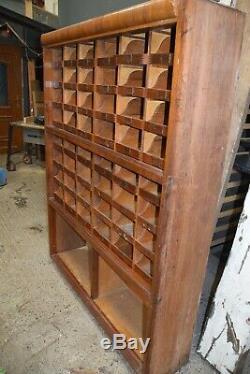 Vintage Industrial Large Apothecary Haberdashery Filing Storage 48 x Drawers