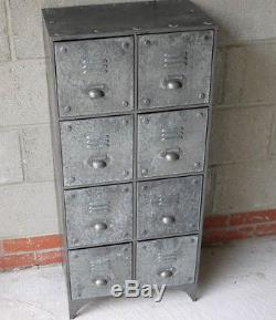 Vintage Industrial Metal Cabinet with 8 Draw Retro style Storage Unit