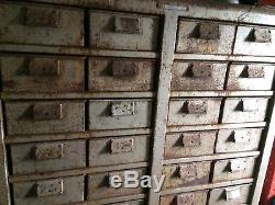 Vintage Industrial Metal Draw Retro Storage Garage Workshop shelving shelves