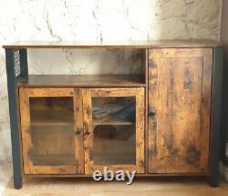Vintage Industrial Sideboard Hallway Kitchen Cabinet Console Storage Unit Retro