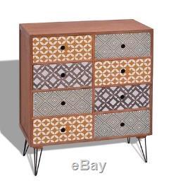 Vintage Industrial Sideboard Retro Storage Cabinet Metal Leg Small Furniture NEW