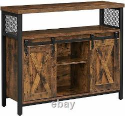 Vintage Industrial Sideboard Rustic Cupboard Cabinet TV Stand Storage Unit Slim