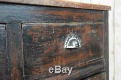 Vintage Industrial Wooden Kitchen Island Cupboard Cabinet Drawers Shop Counter