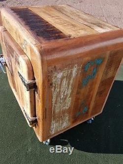 Vintage Industrial painted sideboard multi Retro style Storage Chest Fridge