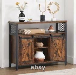 Vintage Kitchen Cupboard Industrial Sideboard Cabinet Console Table Metal Rustic
