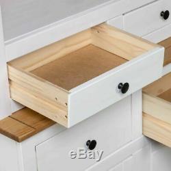 Vintage Kitchen Larder Cabinet White Large Pine Cupboard Storage Pantry Rustic