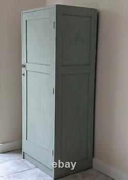 Vintage Kitchen Larder Cupboard Linen Closet Pantry 1943 Sage Green Wooden