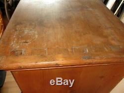 Vintage Kitchen Larder Linen Cabinet Large Pine Cupboard Storage Pantry Rustic
