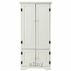 Vintage Kitchen Pantry Larder Cream Cabinet Cupboard Storage Unit Shelves Wooden