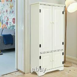 Vintage Kitchen Pantry Larder White Cabinet Cupboard Storage Unit Shelves Wooden
