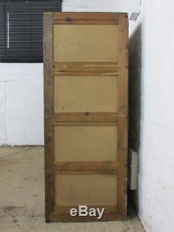 Vintage Light Oak Part Glazed Haberdashers Large Shop Display or Storage Cabinet
