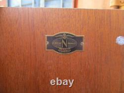 Vintage Nathan G Plan Mid Century Retro Teak Glass Front Book Case cabinet 1960