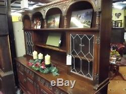 Vintage Old Charm Welsh Dresser Tudor Brown