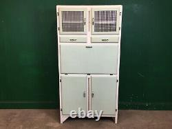 Vintage Painted 1960s Kitchen Larder Cupboard Cabinet. Courier Available