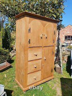 Vintage Pine Continental Pantry/ Housekeepers Cupboard