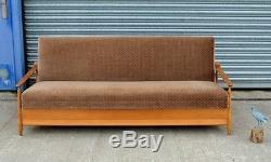 Vintage Retro 1960's Scandinavian Sofa Double Bed Made In Finland