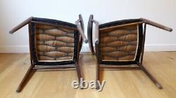 Vintage Retro Antique Mid Century Kitchen Dining Chairs x 2