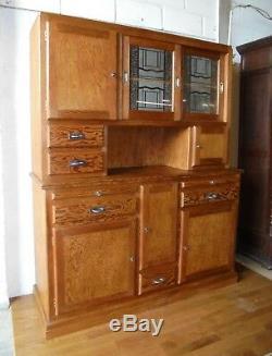 Vintage Retro Art Deco French Pitch Pine Kitchen Larder Cupboard Cabinet Dresser