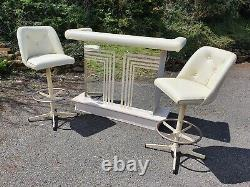 Vintage/Retro Cocktail Bar Home Bar & 2 Stools By Admiral Industries Inc