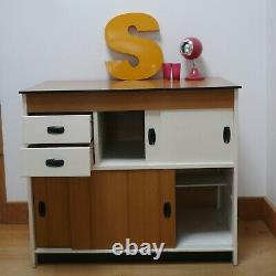 Vintage Retro Danish Kitchen Cupboard Unit Scandinavian Mid-century