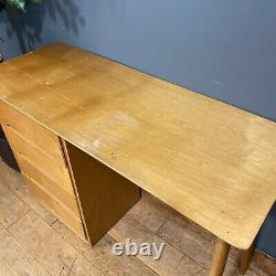 Vintage Retro Desk / Mid Century Liden Desk / Plywood / Office Desk