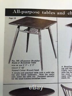 Vintage Retro Ercol Windsor Breakfast Table Mid Century Magazine Rack Blonde 60s