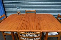 Vintage Retro Extending Dining Table And 4 Chairs