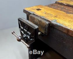 Vintage Retro Industrial School Workbench Excellent Condition