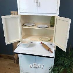 Vintage Retro Mid Century 1950s Kitchen Unit Cabinet Metal Shelves Kitchenette