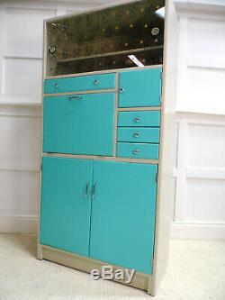 Vintage Retro Midcentury Hygena Kitchen Larder Storage Cabinet 50s chic Painted