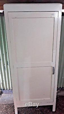 Vintage Retro Old School Cupboard Storage Kitchen Bedroom Pantry Larder Wood Old