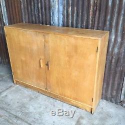 Vintage Retro Old School Wardrobe Cupboard Shelves Storage Kitchen Sideboard
