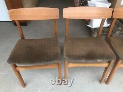 Vintage Retro Teak Extending Dining Kitchen Table And Four Chairs